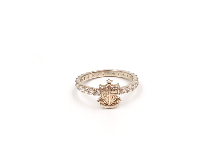 Gamma Phi Beta Pavé Ring