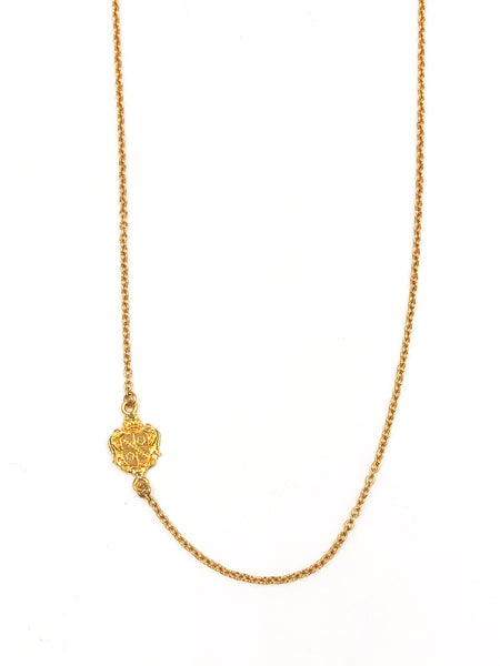 Zeta Tau Alpha Side Crest Necklace