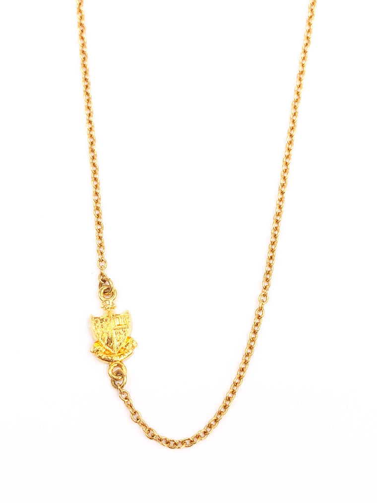 Gamma Phi Beta Side Crest Necklace