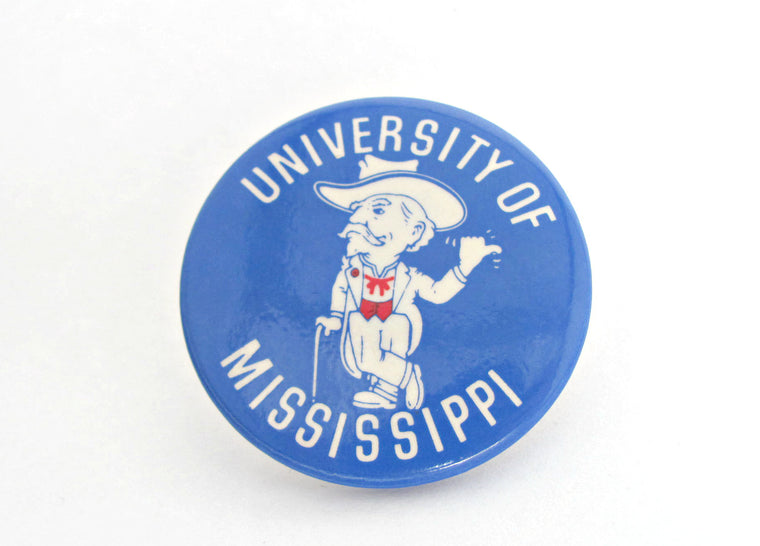 Vintage Collegiate 1960's Ole Miss University of Mississippi Pin