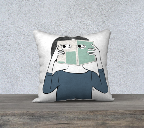 The Zines Are Watching You Pillow