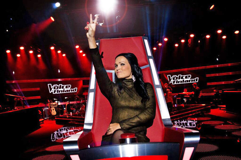 Tarja's outfits for the latest season of The Voice of Finland