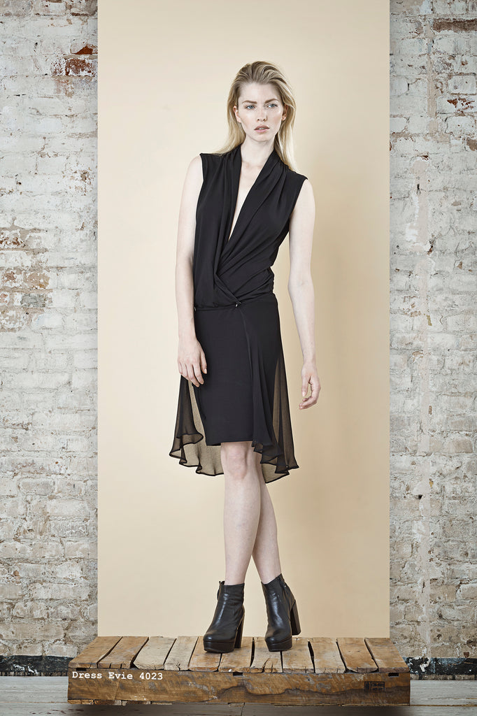 NORDENFELDT Dress Evie black, two in one dress