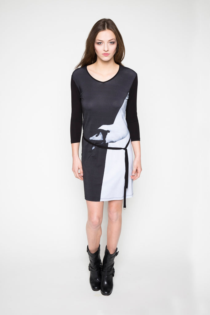 NORDENFELDT Dress Evelyn black white print