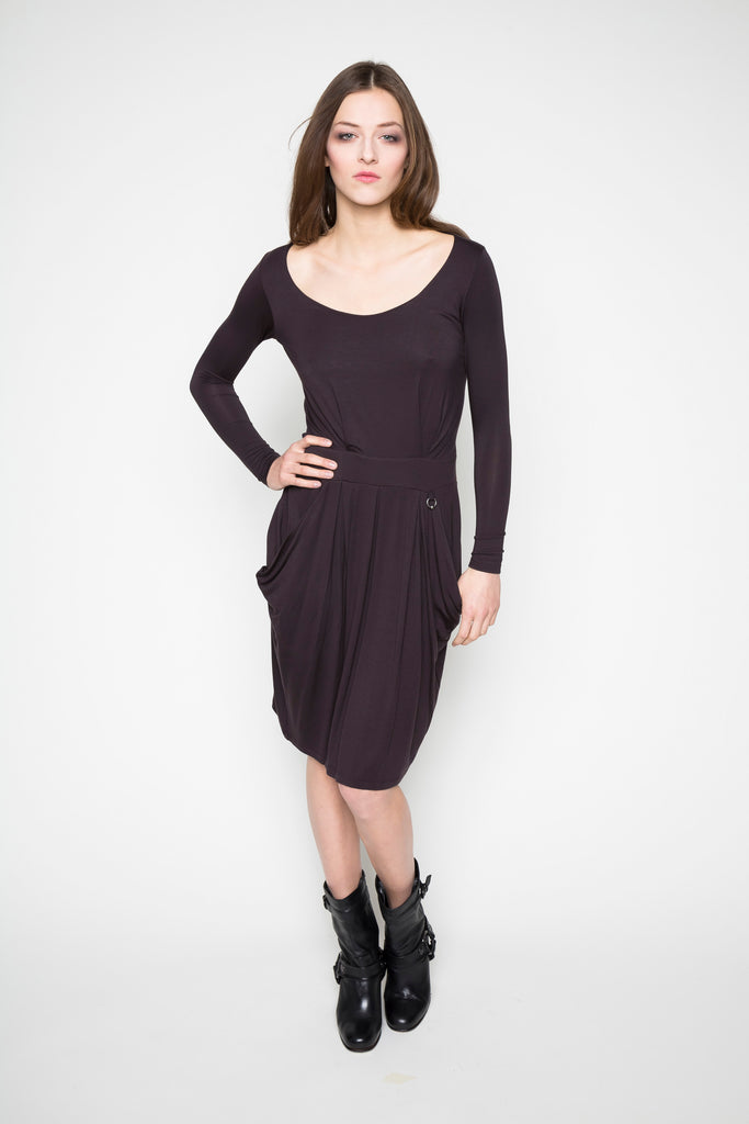 NORDENFELDT Dress Grace berry plum