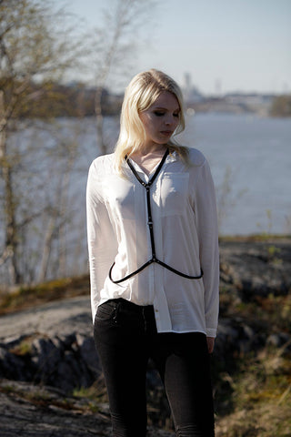 NORDENFELDT Fotoshooting in Helsinki, leather chain Lahja, worn by Tarja Turunen