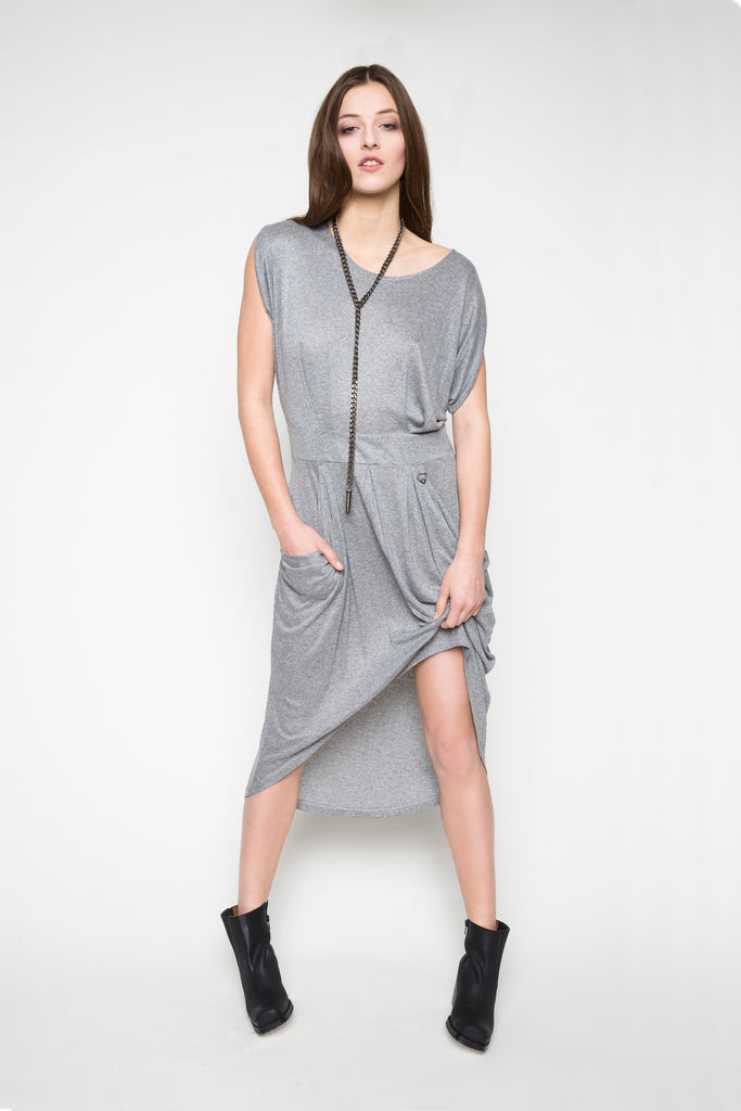 NORDENFELDT Dress Ella grey frost Bullet Necklace silver
