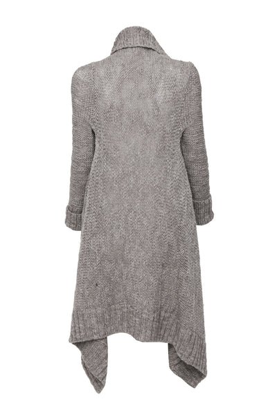 NORDENFELDT Fee, knitted cardigan in taupe, 100% Wool