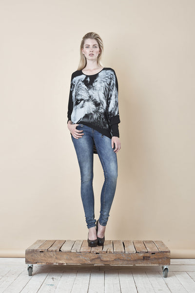 NORDENFELDT Nude London Skydiver, skinny jeans in blue with light washed effect, slim fit, power stretch denim