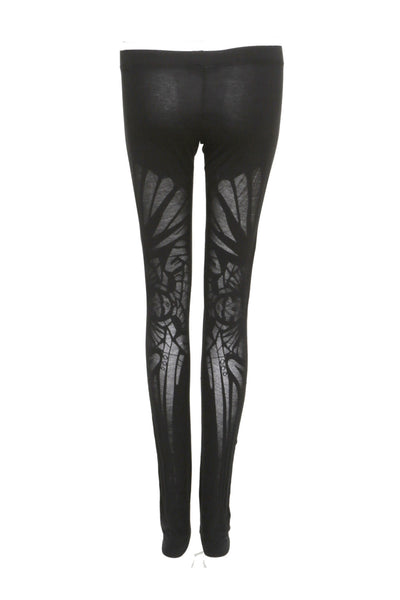 NORDENFELDT Elina Mask, leggings in black with burned out pattern and comfort waistband, worn by Tarja Turunen