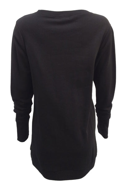 NORDENFELDT Nude Ina Birch, light sweater in black with birch print at front part, long sleeves with cuffs