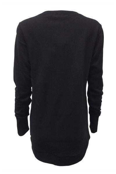 NORDENFELDT Nude Ina Birds, light sweater in black with bird print at front part, long sleeves with cuffs