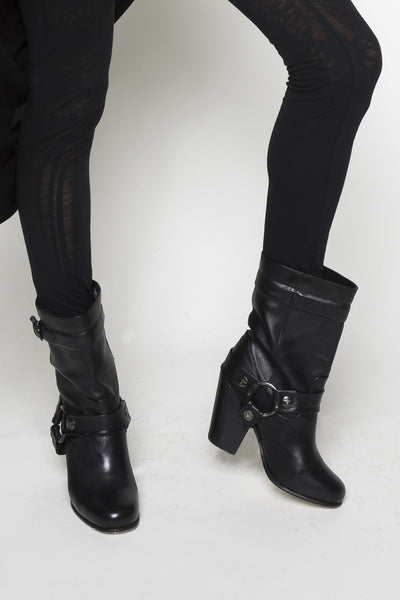 NORDENFELDT Sini Biker Boots in black, leather, worn by Tarja Turunen