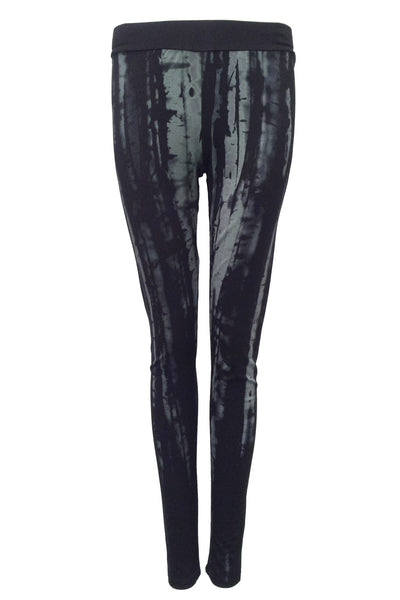 NORDENFELDT Elina Birch, leggings in black with birch print and comfort waistband