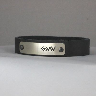 God is Greater Than the Highs and the Lows Leather Bracelet