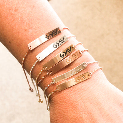 God is Greater Than Our Highs and Lows adjustable bracelet