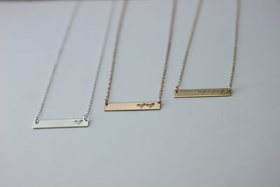 Family Heart Necklace (1-5 hearts)