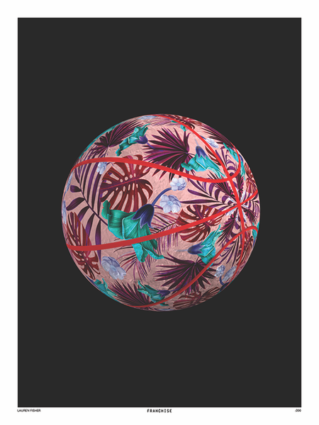 Pattern Basketball Print by Lauren Fisher