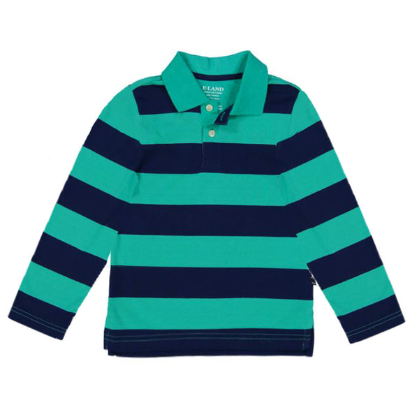 Long Sleeve Stripe Polo