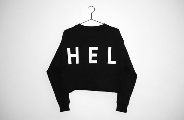 HEL N° 10 | Black Cropped Sweatshirt