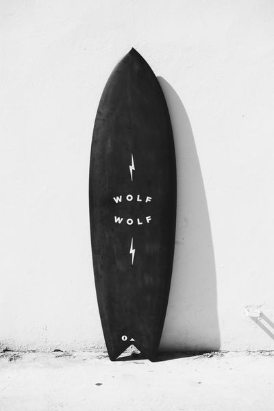 Wolf Wolf Surfboards by WWOOLLFF CO. | Black Pyramid Fish | 100% Handmade