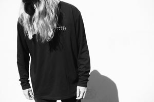 Wolf Skull | Oversized Black Long Sleeve