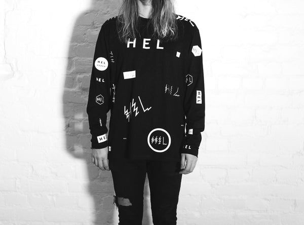 HEL N° 12 | Black Long Sleeve | 100% Organic Cotton