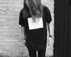 WWOOLLFF Stone | Oversized Washed Out Black Tee
