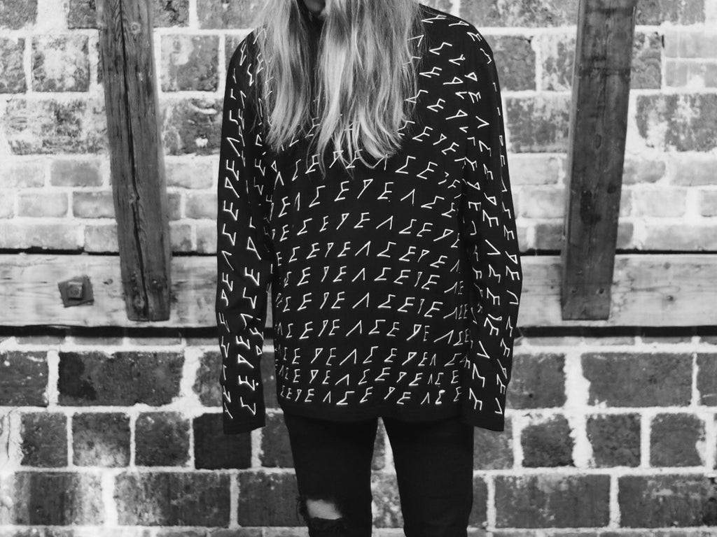 Peace | Oversized Black Long Sleeve
