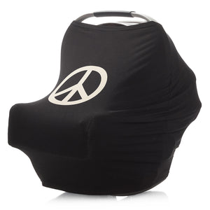 Car Seat Cover Mama Poncho™ (Peace Sign) 3-in-1 Multi-Use