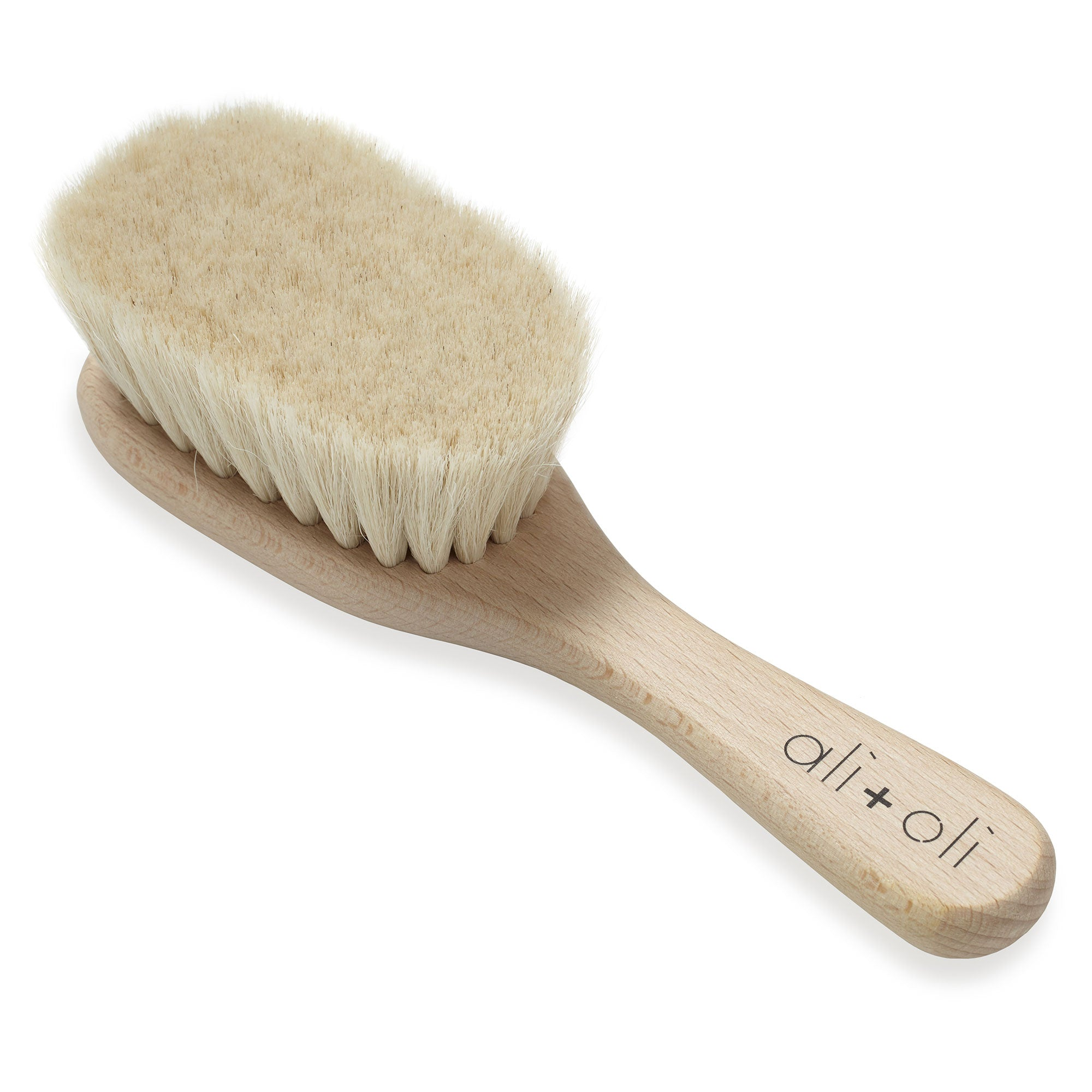 Newborn baby brush natural wood and goat hair made in germany