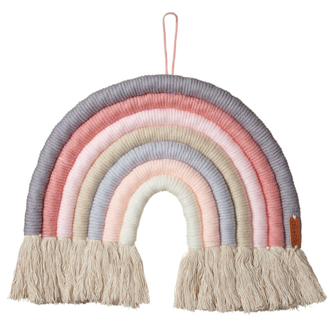 Ali+Oli Macrame Nursery Wall Décor - Rainbow (Ice Cream)