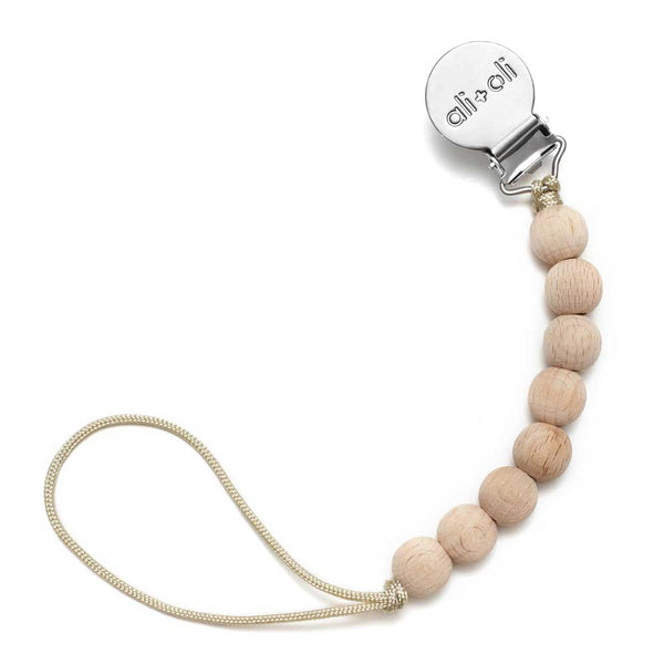 Ali+Oli Pacifier Clip All beech Natural Wood