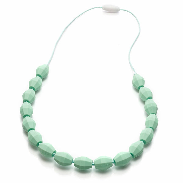 Mint barrel silicone teething necklace
