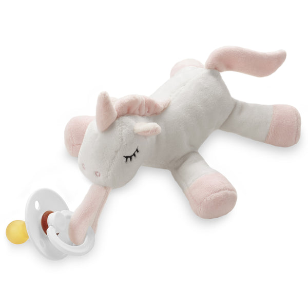 Ali+Oli Soft Plush Soothie Holder Unicorn (Pacifier NOT included)