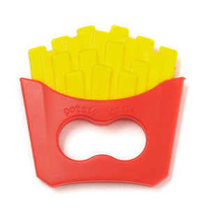 Tasty looking french fries silicone teether