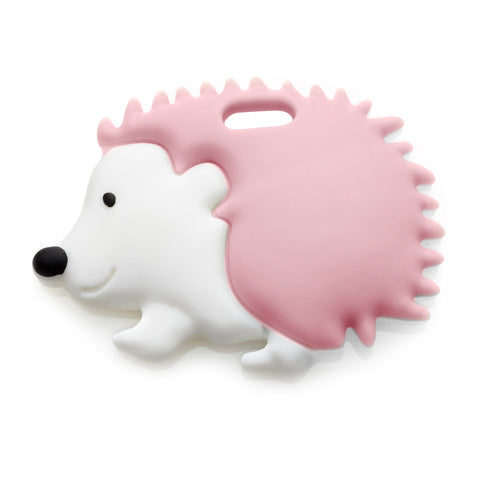 Ali+Oli Modern Hedgehog Teether for Baby (Soft Pink) BPA Free Silicone