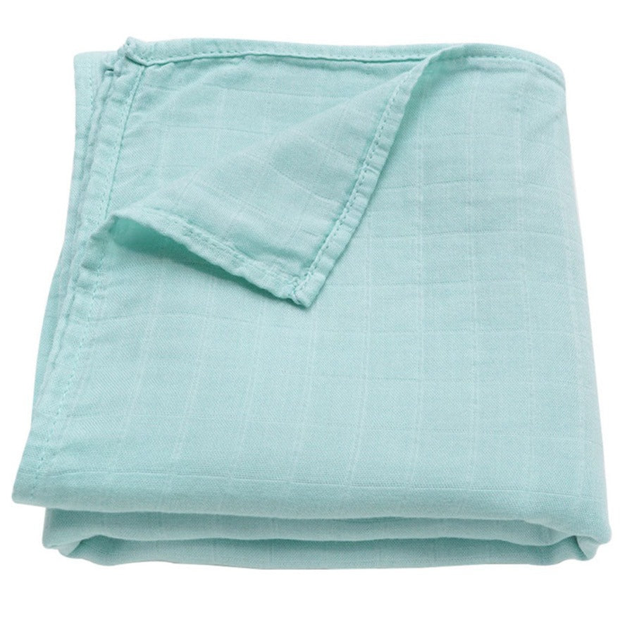Muslin Swaddle Baby Blanket Extra Soft Bamboo & Cotton (Mint)