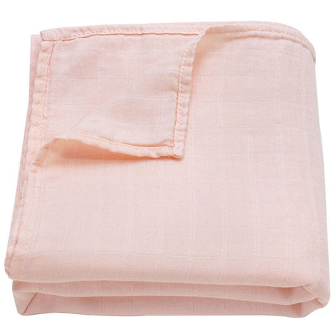 Muslin Swaddle Baby Blanket Extra Soft Bamboo & Cotton Pink