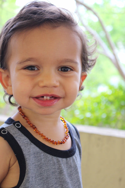 Ali+Oli Baltic Amber Teething Necklace for Baby