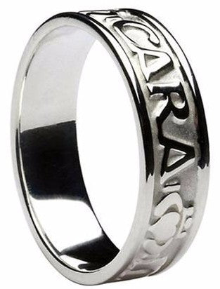 Deer Track Wedding Band