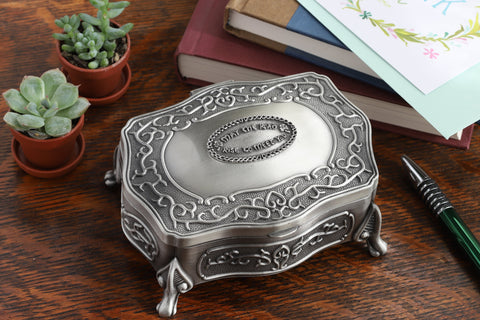 Celtic Jewelry Box Two Sizes May the Road Rise Medallion Pewter Made in Ireland