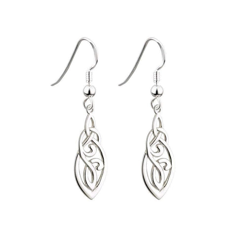Trinity Knot Earrings Celtic Knot Sterling Silver