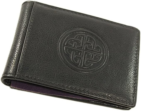 Celtic Wallet & Money Clip Irish Knot Leather