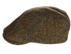 Irish Touring Cap Made in Ireland Fitted Slim Fit Genuine Tweed from John Hanly & Co.