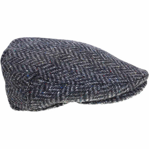 Men's Tweed Cap Made in Ireland Contoured Driving Cap Style Slim Look Herringbone or Fleck Killarney Tweed Made By Hatman of Ireland