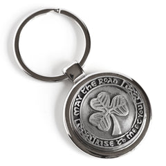 Irish Key Ring May the Road Rise Blessing Design Pewter Made in Ireland