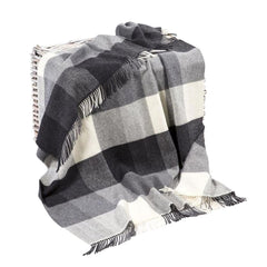 "Irish Blanket 95% Merino Wool 5% Cashmere Made in Ireland 54"" x 71"" Throw"