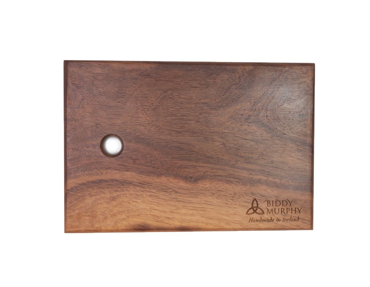 "Mini Wood Cutting Board 9"" x 6"" Scratch Resistant Hardwood Easy Presentation Made in Ireland"