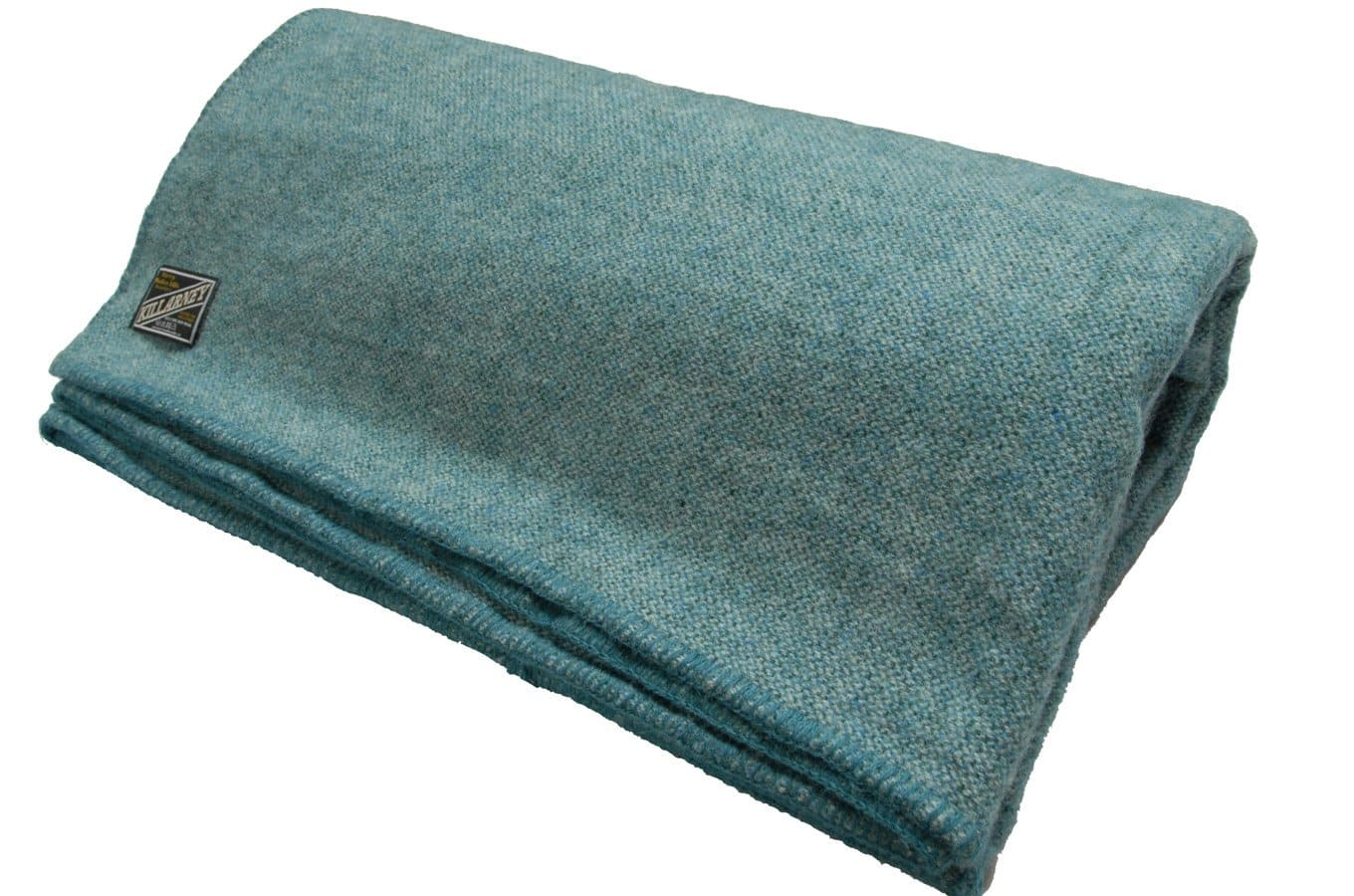 "King/Queen Size 90"" Wide x 108"" Long Lambswool Soft Blanket Wool Comforter Woven in Co. Kerry, Ireland by Kerry Woollen Mills"